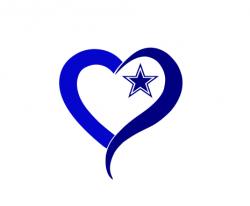 Dallas Cowboy SVG and DXF, Dallas Cowboy heart Svg, cowboy ...