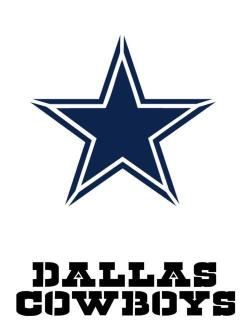 Stencils and Templates 183185: Dallas Cowboy Font And Logo ...