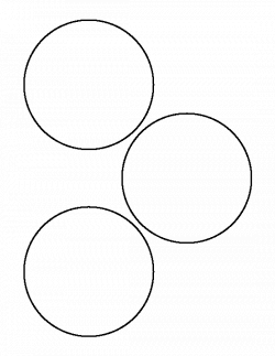 4 inch circle pattern. Use the printable outline for crafts ...