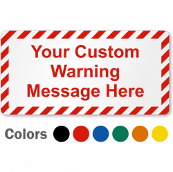 Blank Safety Labels and Custom Stickers | Buy online