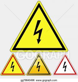 Vector Art - Danger electrical hazard sign. Clipart Drawing ...