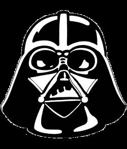 Darth Vader Stencil Star Wars Clipart