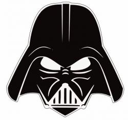 Darth Vader Head Silhouette Darth vader stencil i got | Jalen's 4th ...