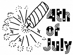 Fourth Of July Black And White Clipart