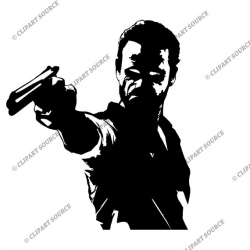 Clip Art The Walking Dead Clipart Rick Grimes Silhouette
