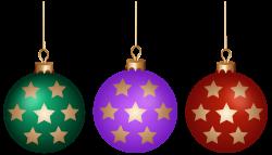 Christmas Balls Set PNG Clip Art