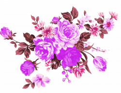 Garden roses Flower Clip art - Purple Dream Flowers Decorative ...