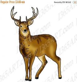 50% OFF Deer Clipart, Deer clip art, Wildlife clipart, Deer graphic ...
