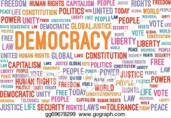 Vector Art - Democracy word cloud. Clipart Drawing ...