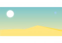 Clipart empty desert landscape - WikiClipArt