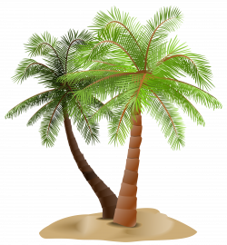 Palms in Sand Transparent PNG Clip Art Image | Gallery Yopriceville ...