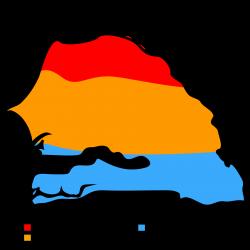 Senegal map of Koppen Climate Classification | Climates | Pinterest