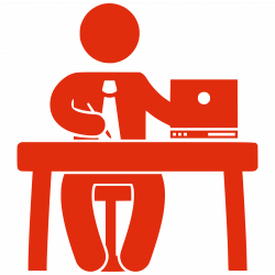 office pictures clip art office worker sitting at desk clipart 215 ...