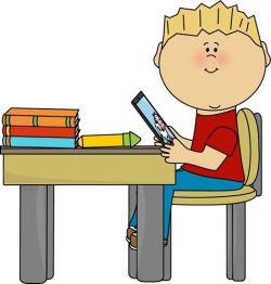 boy sitting at desk clipart | Classroom Bulletin | School ...