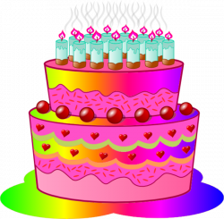 Birthday Cake C | Free Images at Clker.com - vector clip art online ...