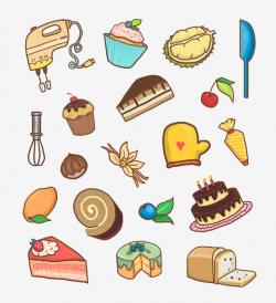 Festival Cake Dessert Fruit, Dessert, Baking, Q Version PNG ...