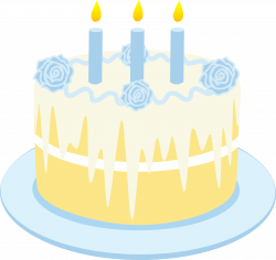Vanilla Birthday Cake Clip Art - Free Clip Art