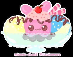 Kawaii bunny sundae by miemie-chan3 on DeviantArt