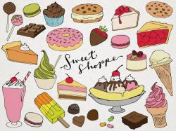 Desserts Clipart Sweet Shoppe Clip art hand drawn clip art