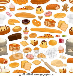 EPS Vector - Bakery, confectionery sweets seamless pattern ...