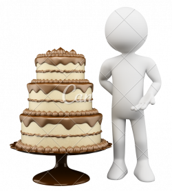 3D Chocolate Cake and Biscuit - Photos by Canva