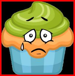 Amazing Gu Dessert Cupcake Qui Pleure Smiley Emoticone Clipart ...