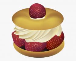 Great Clip Art Of Desserts - Strawberry Shortcake Dessert ...