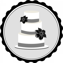 Wedding Cake Clipart Black And White | Clipart Panda - Free Clipart ...