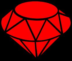 Ruby Simple Clip Art at Clker.com - vector clip art online, royalty ...