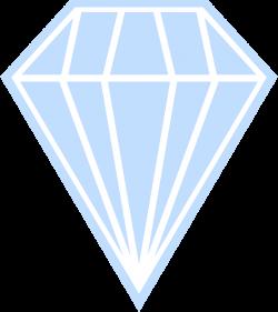 OnlineLabels Clip Art - Single Blue Diamond