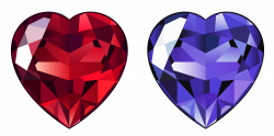 Transparent Diamond Hearts PNG Clipart | Gallery Yopriceville ...