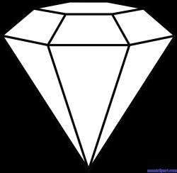 Diamond Lineart Clip Art - Sweet Clip Art