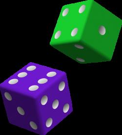 Green And Purple Dice Clip Art at Clker.com - vector clip art online ...