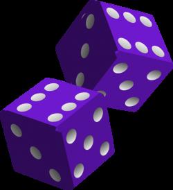 Two Purple Dice Clip Art at Clker.com - vector clip art online ...