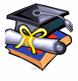 Diploma Clipart Graduation Hat And Diploma Royalty ...