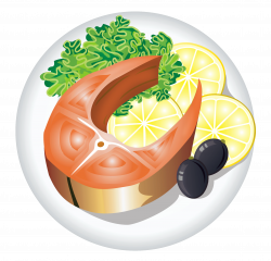 Fish Dish with Lemon PNG Clipart Image | Gallery Yopriceville ...
