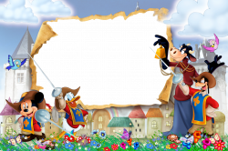 The Three Musketeers Kids Transparent PNG Photo Frame | disney ...