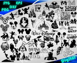 Disney svg Disney Clipart Disney bundle silhouette stencil file cricut  vector cut file cutting file vector files