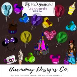 Disneyland Clip Art/Disney Planner Art/Castle Clip Art/Disney Clip  Art/Sticker Graphics/Mouse Ears/Fashion Illustration/Digital Clip Arts