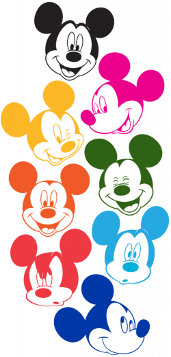 Mickey Mouse Faces in Technicolor (colored by me) | disneyland Paris ...