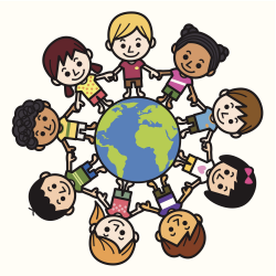 Happy Smiling Multicultural Kids Around The World Clipart - Free ...