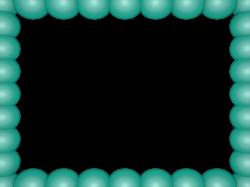 Aqua Bubbly Pearls Rectangular Powerpoint Border   3D Borders