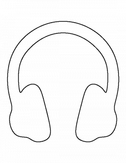 Headphones pattern. Use the printable outline for crafts, creating ...