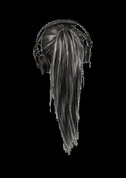 girl using headphones // black and white // tumblr overlay | Arts ...
