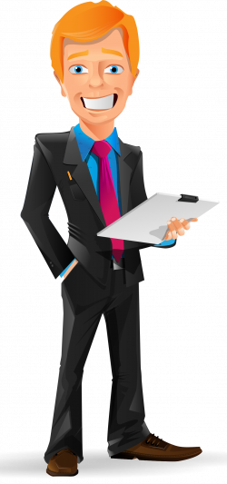 Smiling Businessman Vector Character - http://www.dailystockphoto ...
