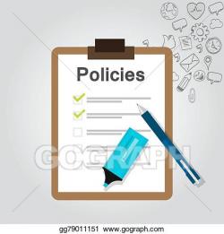 Vector Art - Policies regulation concept list document ...
