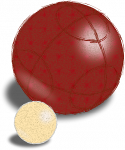 Clipart - Sketchy Boccie Ball and Jack