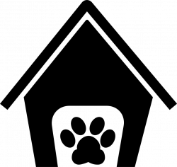 Pets Hotel House Sign With A Paw Svg Png Icon Free Download (#73711 ...