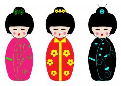 Kokeshi Dolls Clipart Free Stock Photo - Public Domain Pictures