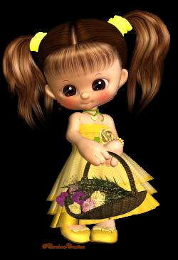 Little Flower Girl by CarolannW | Cute Art | Pinterest | Flower and Psp
